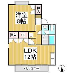 ラフォーレ伊藤 A棟[2階]の間取り