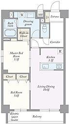 築地MKハウス[0101号室]の間取り