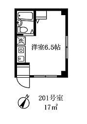 115502 兼子ビル[201号室]の間取り
