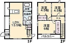 [一戸建] 香川県高松市楠上町1丁目 の賃貸【/】の間取り