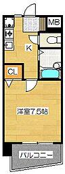 奈良屋グロリアス[8階]の間取り