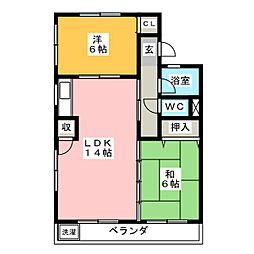サンハイツしのぎ[3階]の間取り