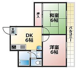 パークホーム王子[2階]の間取り