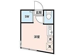 TM登戸[1階]の間取り
