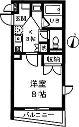 パインフィールド[3階]の間取り