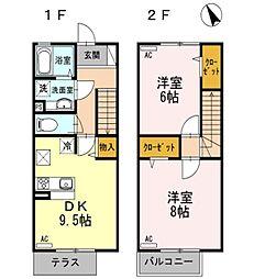 [テラスハウス] 東京都西東京市南町2丁目 の賃貸【/】の間取り