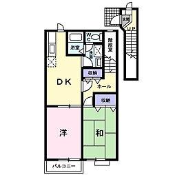 ドゥゼルII[2階]の間取り