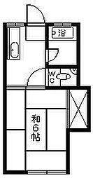 コーポ浜田[101号室]の間取り