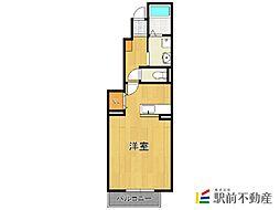福岡県福岡市早良区飯倉3丁目の賃貸アパートの間取り