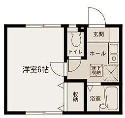 三ツ沢東町アパート2号棟[102号室号室]の間取り