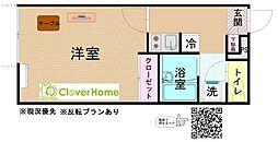 神奈川県厚木市戸室2丁目の賃貸アパートの間取り