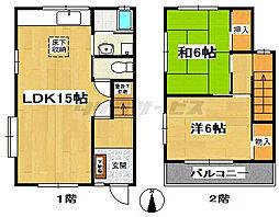コーポTK2[1階]の間取り