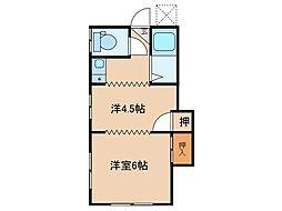 E-ハイツ[2階]の間取り