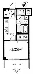 JR東海道本線 熱海駅 徒歩19分の賃貸マンション 5階1Kの間取り