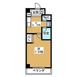 メディナ丹波口[10階]の間取り