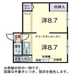 カサデューク文京台[2階]の間取り