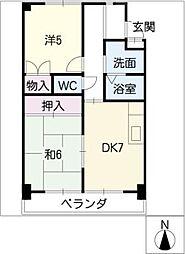 ハイファームマンション[3階]の間取り