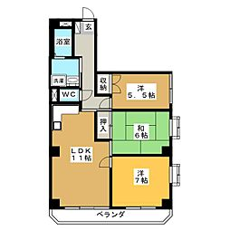 メゾン・ドゥ相生町[2階]の間取り