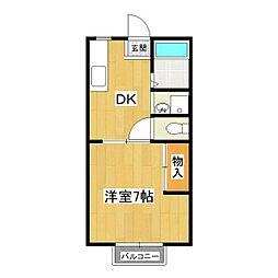 マイステージ17番館A[1階]の間取り