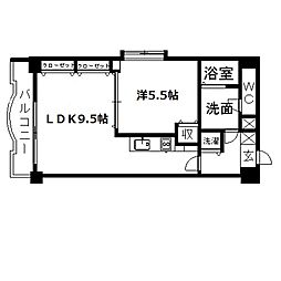 アップル第7マンション[705号室]の間取り