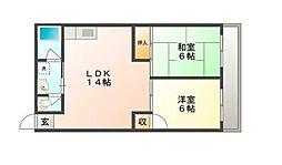 粟井ビルディング[4階]の間取り