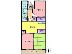 サンモール山崎[205号室]の間取り
