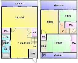 [一戸建] 大阪府八尾市天王寺屋7丁目 の賃貸【/】の間取り