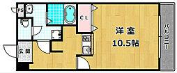モンシャトー百済坂[5階]の間取り