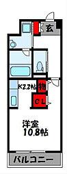 ビジターハイツ新宮MN51[4階]の間取り