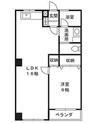 吉浜マンション[3階]の間取り