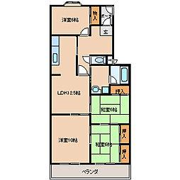 マンションアザレアA・B棟[3階]の間取り