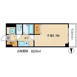 デトムワン銀閣寺道[4階]の間取り