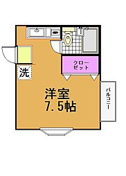 プランドール弐番館B棟[1階]の間取り