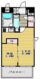 ラヴニール西長堀パークフロント[7階]の間取り