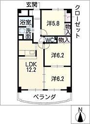 コンフォート中央[3階]の間取り