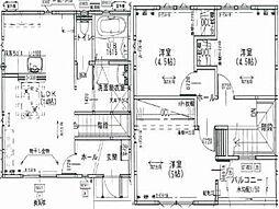 [一戸建] 徳島県徳島市名東町2丁目 の賃貸【/】の間取り