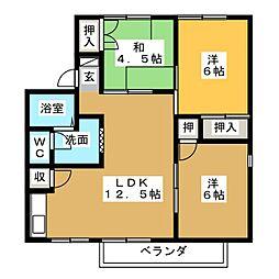 CASADE24 C[2階]の間取り