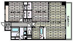 ラフィーネ御影[2階]の間取り