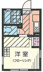 G・Aタウン鶴ヶ峰201号室[2階]の間取り
