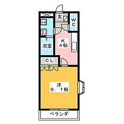 レジデンス鴻之台[1階]の間取り
