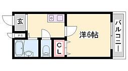 JR加古川線 社町駅 バス18分 依藤野下車 徒歩4分の賃貸マンション 4階1Kの間取り