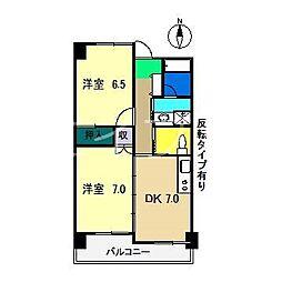 オリーブ新本町[3階]の間取り