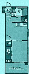 カーサマデラ[3階]の間取り