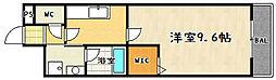 滋賀県大津市一里山4丁目の賃貸マンションの間取り