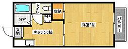京都府京都市上京区行衛町の賃貸アパートの間取り