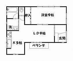 平作8丁目貸家[2F号室]の間取り