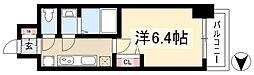 アステリ鶴舞ディオ 5階1Kの間取り