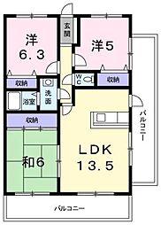 コンフォールマンション[202号室]の間取り