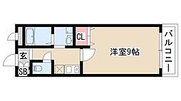 愛知県名古屋市緑区桶狭間清水山 の賃貸マンションの間取り