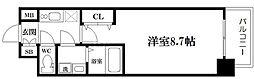 LC桜ノ宮 6階1Kの間取り